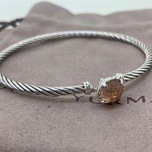 David Yurman 3mm Chatelaine Bracelet Morganite